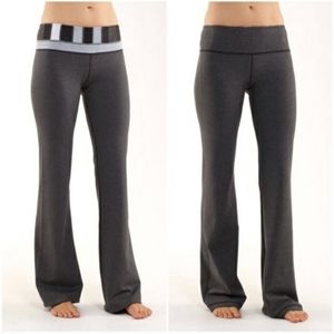 Lululemon Grey Flare Yoga Pants